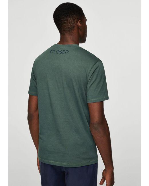 Mango | Green Image Cotton T-shirt for Men | Lyst