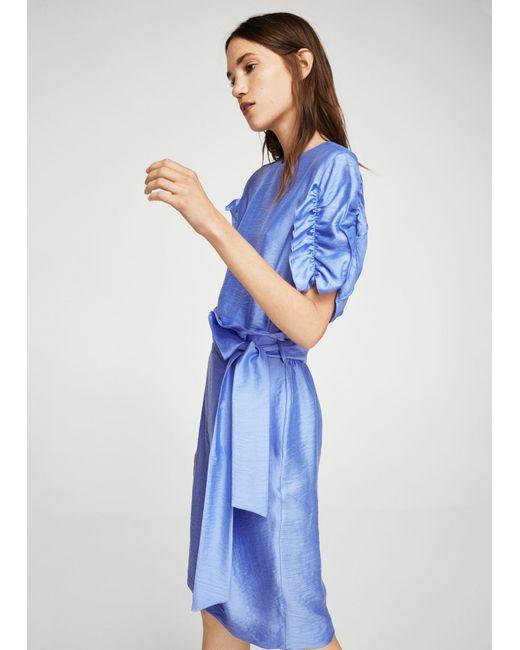 Mango | Blue Decorative Knot Skirt | Lyst