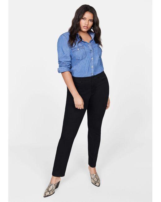 Violeta by Mango Black Slim-fit Julie Jeans