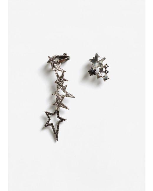 Mango | Metallic Crystal Faceted Earcuff | Lyst