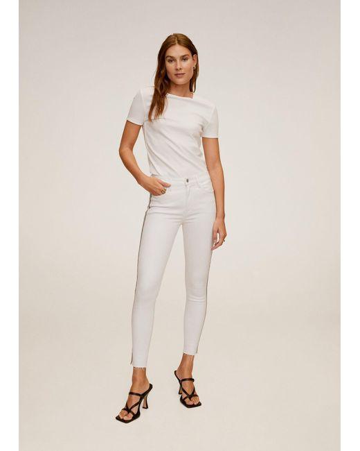 Mango Skinny Sparkle Jeans White