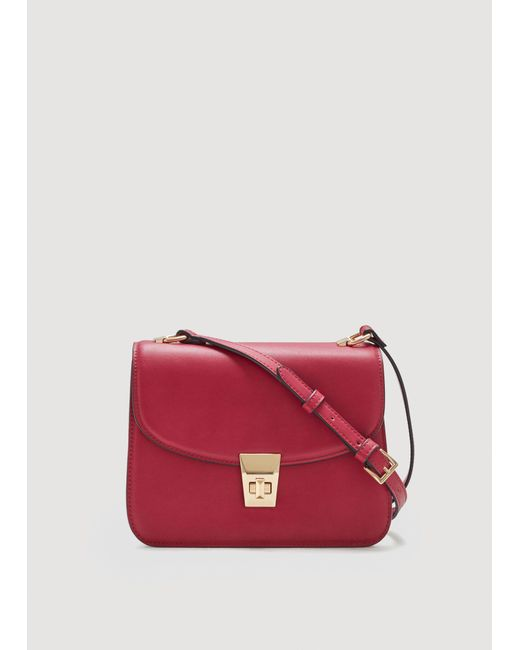 Mango | Red Pebbled Cross-body Bag | Lyst
