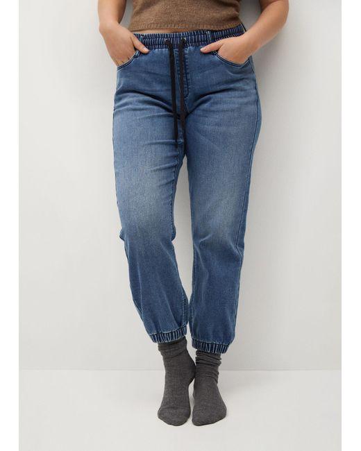 Violeta by Mango Blue Jogger Sporty Jeans