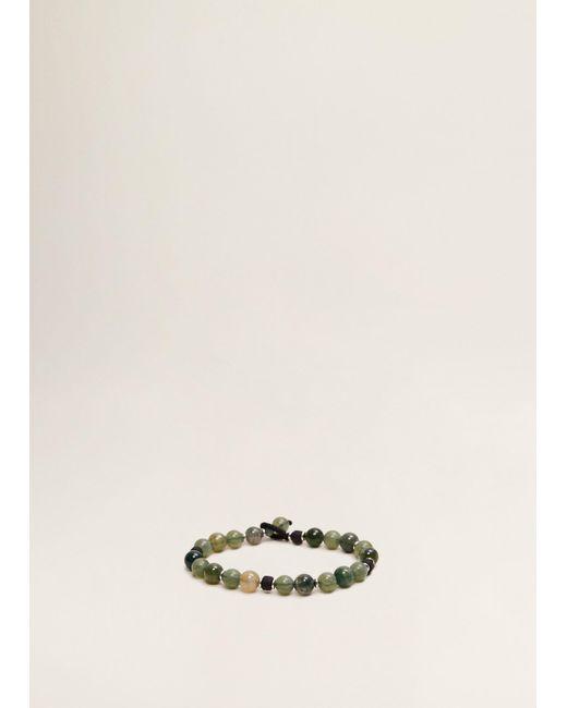 Mango - Green Stone Beads Bracelet for Men - Lyst