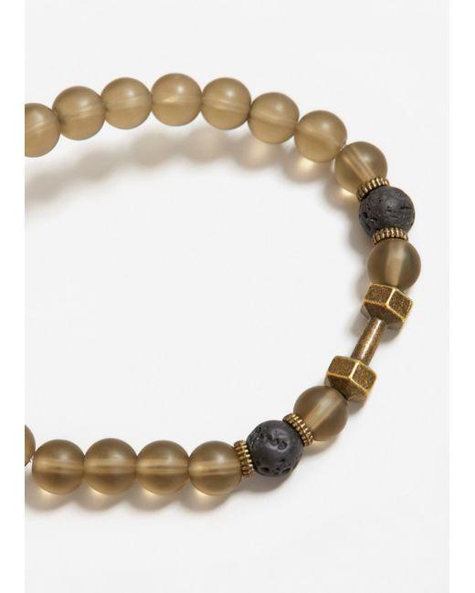 Mango   White Transparent Bead Bracelet   Lyst