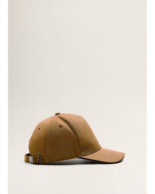 Mango - Brown Cotton Baseball Cap for Men - Lyst