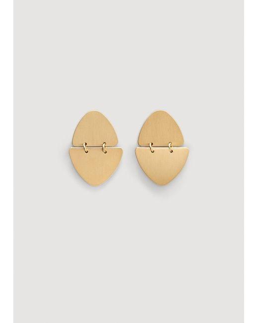 Mango - Metallic Metal Pendants Earrings - Lyst