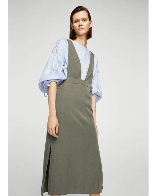 Mango | Multicolor Detail Cotton-blend Pinafore Dress | Lyst