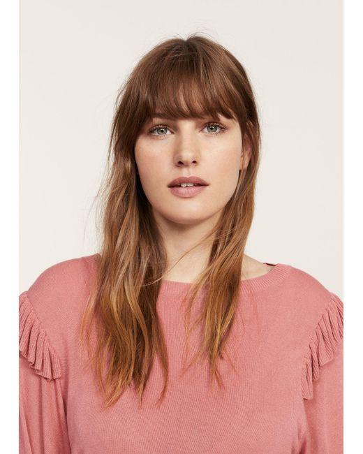 Violeta by Mango   Pink Puffed Sleeves Sweater   Lyst