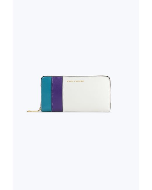 Marc Jacobs | Blue Saffiano Standard Continental Wallet | Lyst