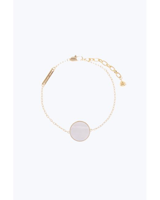 Marc Jacobs - Metallic Pearlescent Logo Chain Bracelet - Lyst