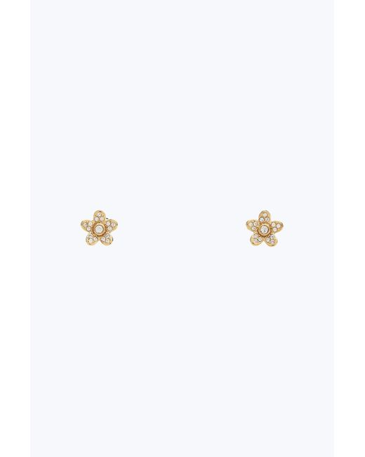 Marc Jacobs | Metallic Mj Coin Flower Studs | Lyst