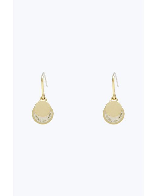 Marc Jacobs - Multicolor Enamel Logo Disc Earrings - Lyst