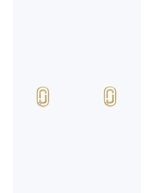 Marc Jacobs - Metallic Double J Stud Earrings - Lyst