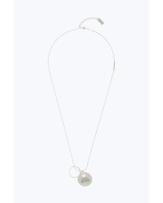 Marc Jacobs - Metallic Engraved Pendant Necklace - Lyst
