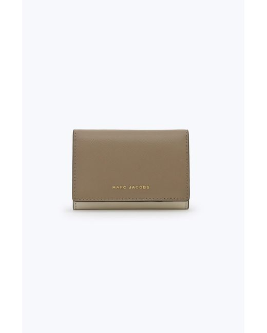 Marc Jacobs - Gray Saffiano Colorblocked Multi Wallet - Lyst