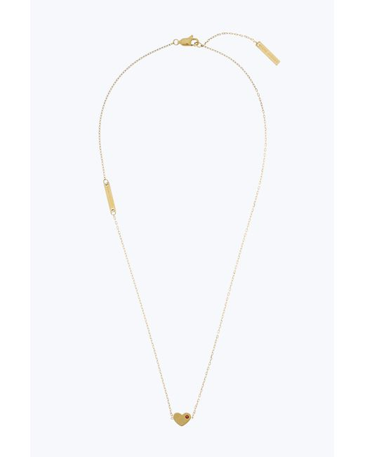 Marc Jacobs   Metallic Heart Pendant Necklace   Lyst