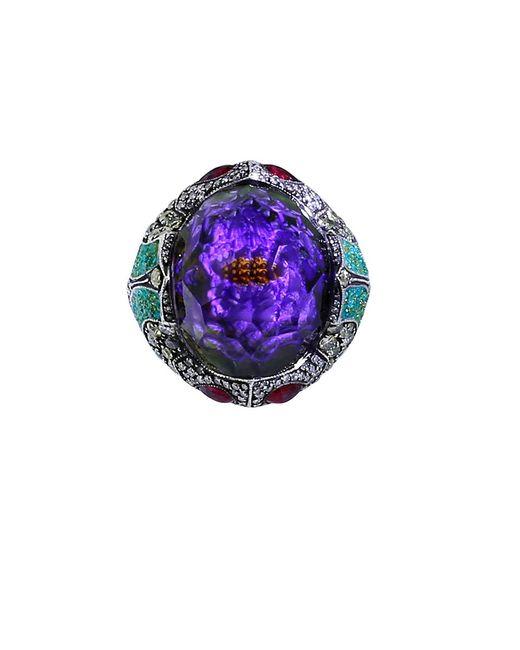 Sevan Biçakci - Multicolor Carved Waterlily Ring - Lyst