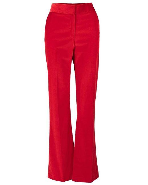 Smythe Red Velvet Wide Leg Trouser