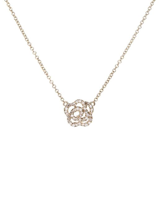 EF Collection - Metallic Diamond Rose Necklace - Lyst