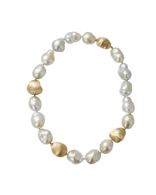 Yvel White Baroque Pearl Necklace