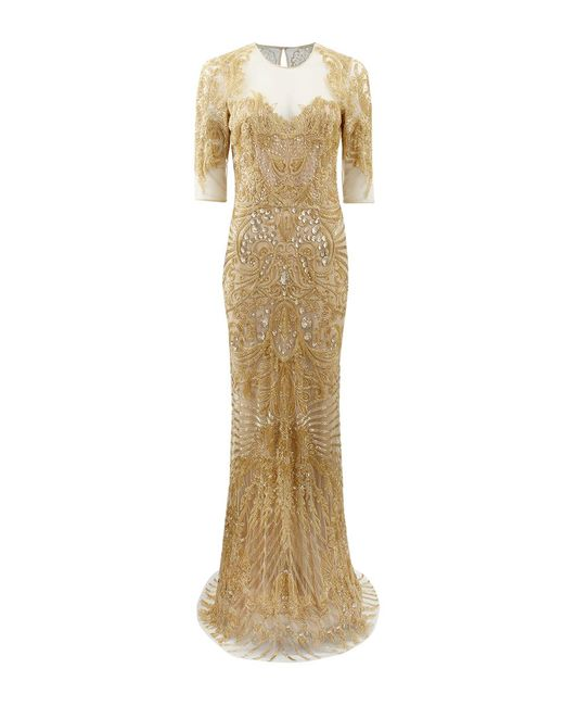 Naeem Khan - Metallic Sequined Silk-Georgette Gown - Lyst