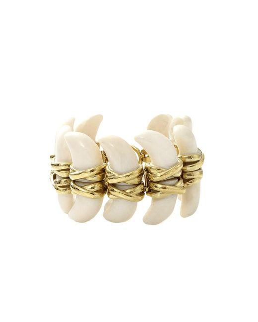 Vaubel | Metallic Connected Bone Bracelet | Lyst