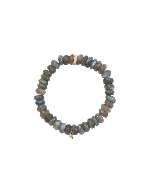 Sydney Evan | Blue Diamond, Sapphire, Grey Moonstone & 14k Yellow Gold Evil Eye Beaded Stretch Bracelet | Lyst
