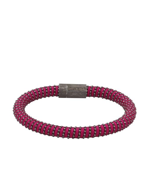 Carolina Bucci | Purple Magenta Twister Band Bracelet | Lyst