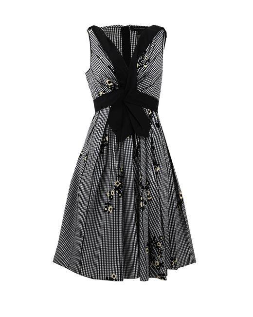 Marc Jacobs | Black Pearl-embellished Cutout Satin Dress | Lyst