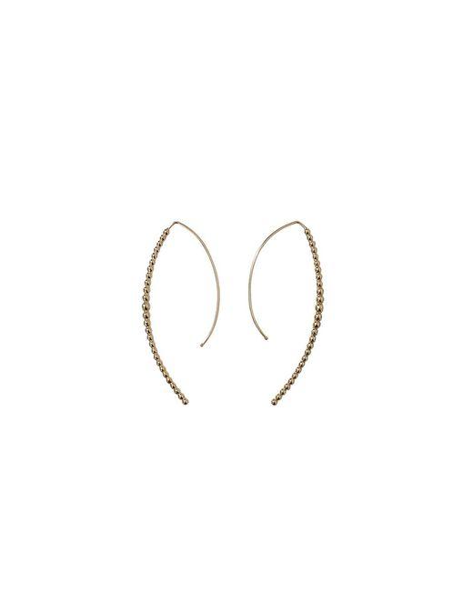 Mizuki | Metallic Open Marquis Diamond Hoop Earrings | Lyst