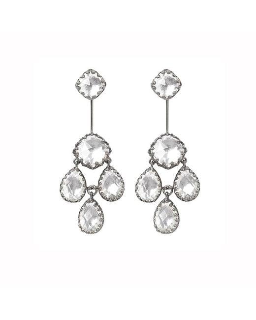 Larkspur & Hawk | Metallic Antoinette Suspended Girandole Earrings | Lyst