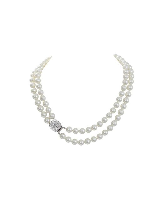 Fantasia Jewelry | Metallic Pearl Necklace | Lyst
