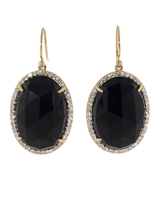 Irene Neuwirth - Rose Cut Black Onyx Earrings - Lyst
