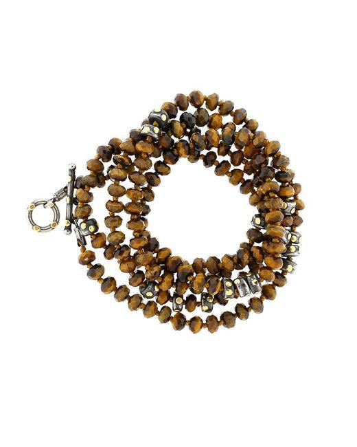 Yossi Harari   Metallic Libra Tiger Eye Wrap Necklace   Lyst