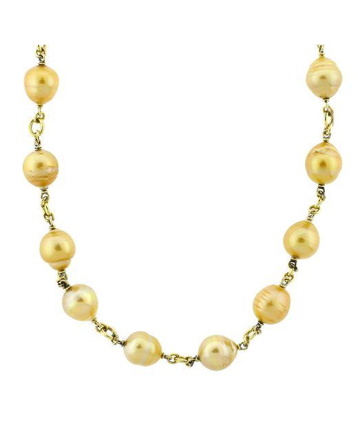 Sylva & Cie   Metallic Baroque Pearl Necklace   Lyst