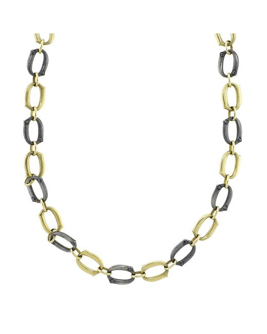 Sylva & Cie | Metallic Gold And Silver Link Necklace | Lyst