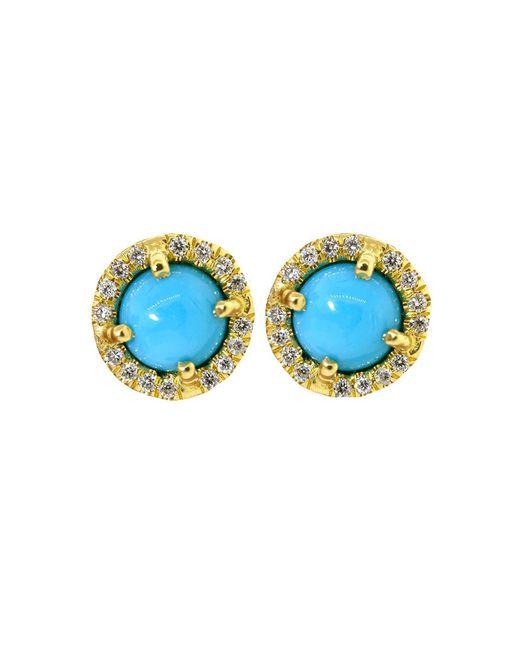 Irene Neuwirth | Blue Cabochon Turquoise Stud Earrings | Lyst