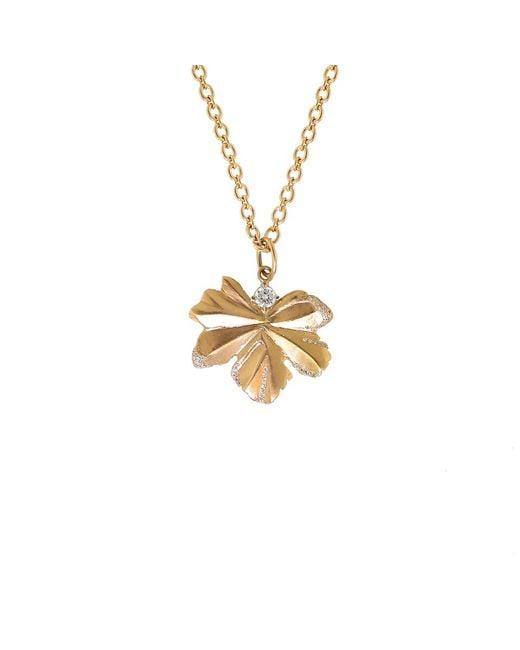 Irene Neuwirth | Metallic Gold Leaf And Diamond Pendant | Lyst