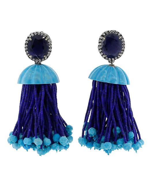 Silvia Furmanovich   Blue Tassel Earrings   Lyst
