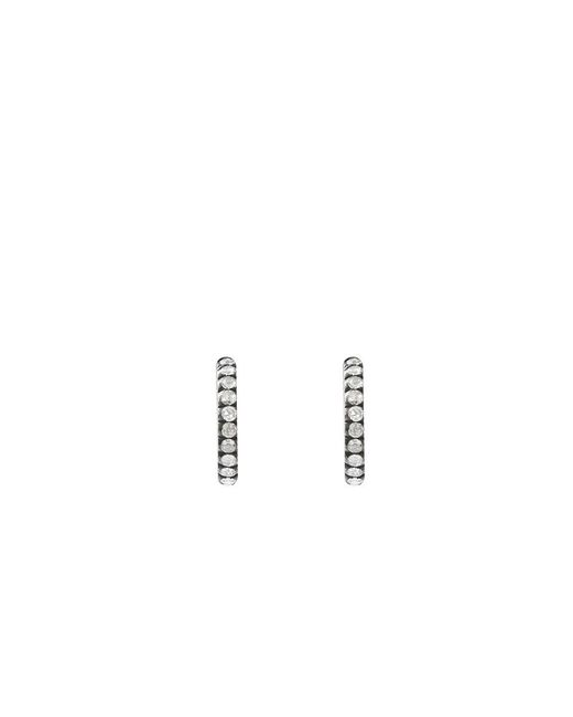 Yossi Harari | Pink Extra Small Lilah Diamond Hoop Earrings | Lyst