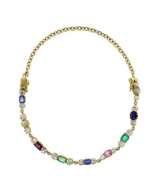 Sylva & Cie | Metallic Vintage Bracelet & Choker Necklace | Lyst