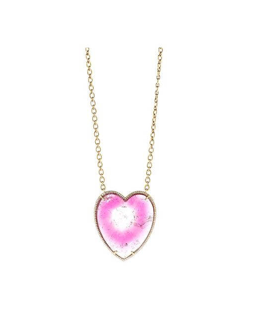 Irene Neuwirth - Pink Bi-color Tourmaline Heart Necklace - Lyst
