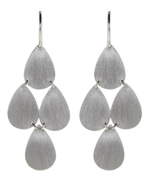 Irene Neuwirth - Metallic Four-drop Chandelier Earrings - Lyst