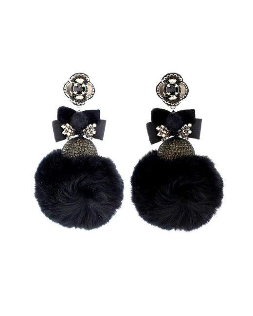 Ranjana Khan | Multicolor Pom Pom Mink Earrings | Lyst