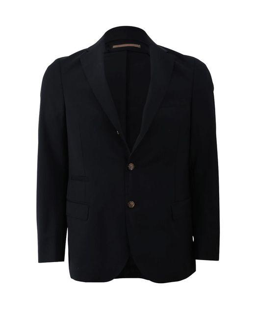 Eleventy Blue Single Breasted Jacket for men