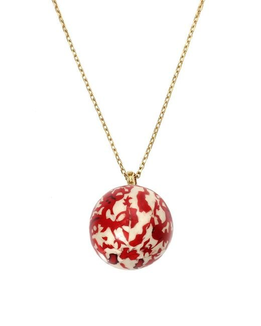 GEMFIELDS X MUSE | Multicolor Silvia Furmanovich Marquetry Red Chinese Ball Necklace | Lyst