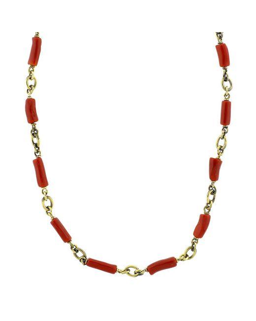 Sylva & Cie - Multicolor Coral Bead Necklace - Lyst