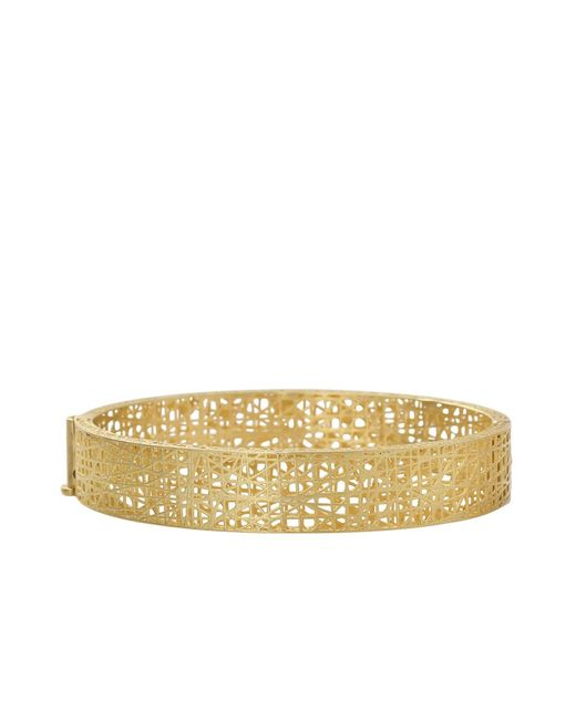 Yossi Harari - Metallic Champagne Diamond Lace Cuff - Lyst
