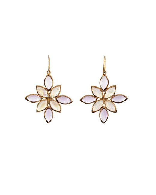 Irene Neuwirth | Metallic Rainbow Moonstone And Rose De France Earrings | Lyst